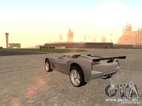 Chevrolet Corvette C7 Spyder para la visión correcta GTA San Andreas