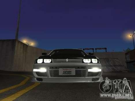 Nissan Skyline R33 SGM para visión interna GTA San Andreas