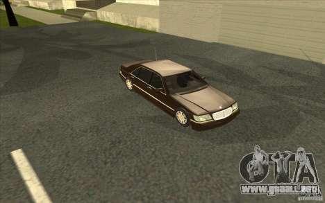 Mercedes-Benz S600 para la vista superior GTA San Andreas