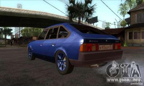 2141 AZLK personas edición para GTA San Andreas vista posterior izquierda