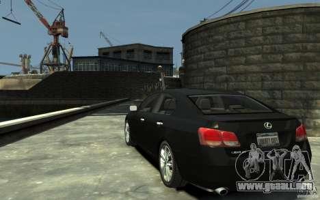 Lexus GS450 2006 para GTA 4 Vista posterior izquierda