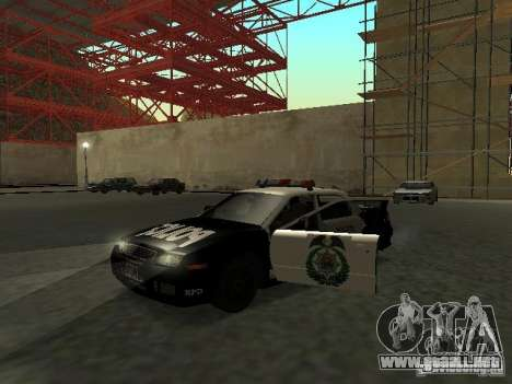 Police Civic Cruiser NFS MW para GTA San Andreas left
