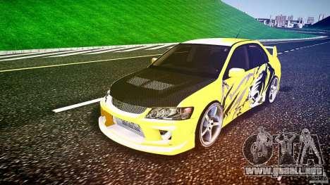 Mitsubishi Lancer Evolution para GTA 4 vista hacia atrás