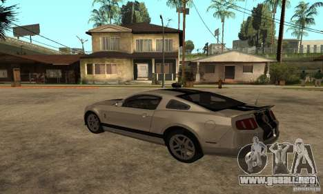 Ford Mustang Shelby 2010 para GTA San Andreas left