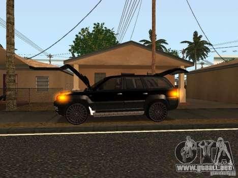 Jeep Grand Cherokee Black para GTA San Andreas vista posterior izquierda