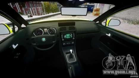 Skoda Octavia Scout Paramedic [ELS] para GTA 4 vista lateral