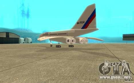 Tu-144 para la visión correcta GTA San Andreas