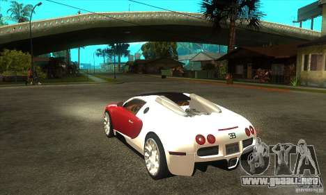 Bugatti Veyron Grand Sport para GTA San Andreas vista posterior izquierda