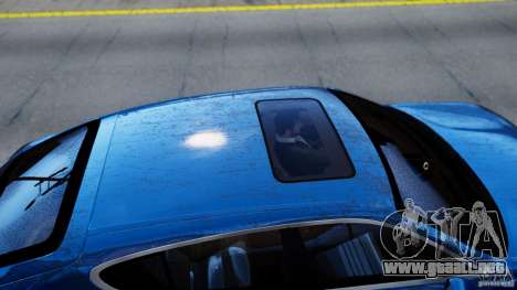 Porsche Panamera Turbo 2010 Black Edition para GTA 4 vista hacia atrás