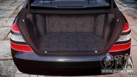 Mercedes-Benz S600 w221 para GTA 4 vista lateral