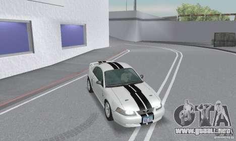 Ford Mustang GT 2003 para la vista superior GTA San Andreas