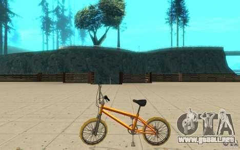 Zeros BMX YELLOW tires para GTA San Andreas left