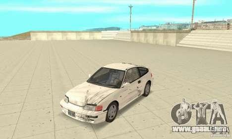 HONDA CRX II 1989-92 para vista lateral GTA San Andreas