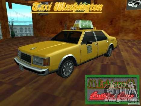 Taxi Washington para GTA San Andreas vista posterior izquierda