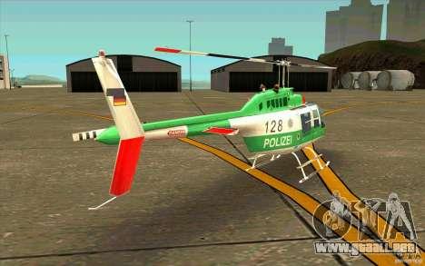 Bell 206 B Police texture3 para la visión correcta GTA San Andreas