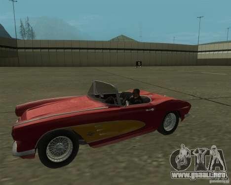 Chevrolet Corvette 1961 para GTA San Andreas vista posterior izquierda
