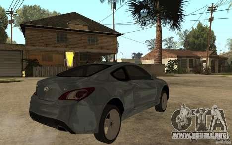 Hyundai Genesis Coupe 2010 para la visión correcta GTA San Andreas