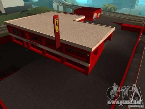Nuevo Showroom de Ferrari en San Fierro para GTA San Andreas