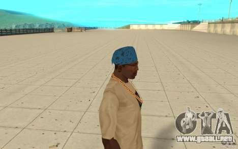 Pañuelo azul maryshuana para GTA San Andreas segunda pantalla