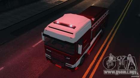 DAF XF Firetruck para GTA 4 visión correcta