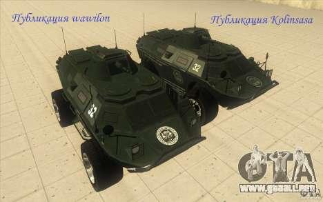Vehículos blindados de la GTA 4 TBOGT Original c para la visión correcta GTA San Andreas