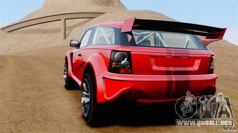 Bowler EXR S 2012 para GTA 4 Vista posterior izquierda