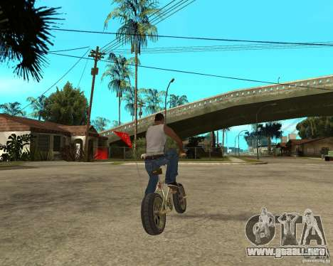 WideWheel-BMX 1 LOUIS VUITTON Version para GTA San Andreas vista posterior izquierda
