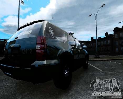 Chevrolet Tahoe Hungarian Vam-Zoll Custom para GTA 4 left