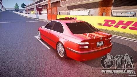 BMW 530I E39 stock chrome wheels para GTA 4 Vista posterior izquierda