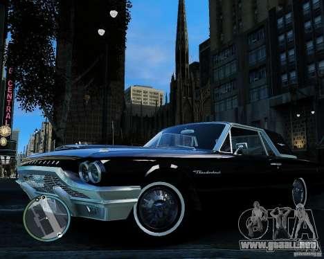 Ford ThunderBird 1964 para GTA 4 vista hacia atrás