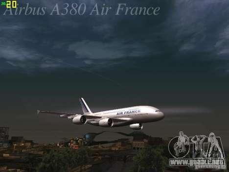 Airbus A380-800 Air France para las ruedas de GTA San Andreas