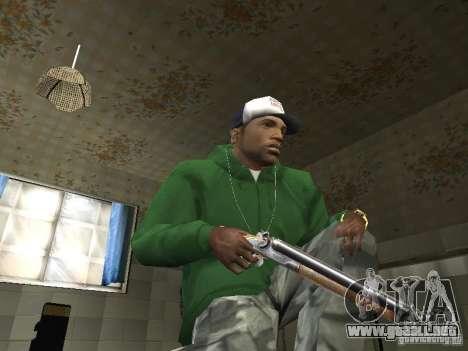 Pak domésticos armas V2 para GTA San Andreas segunda pantalla