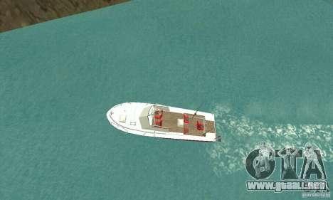 Sports Fishing Boat para GTA San Andreas vista posterior izquierda