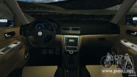 Volkswagen Golf 4 R32 2001 v1.0 para GTA 4 vista hacia atrás