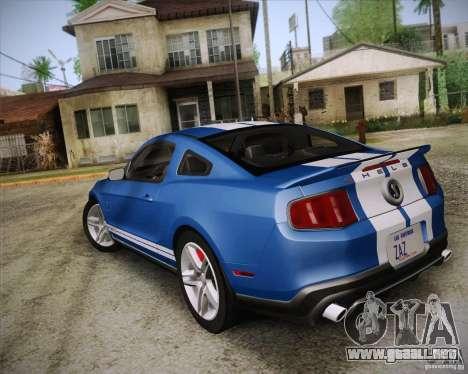 Ford Shelby GT500 2011 para GTA San Andreas left