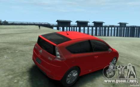 Citroen C4 2009 VTS Coupe v1 para GTA 4 visión correcta