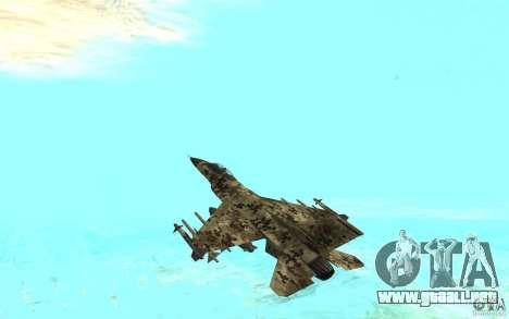 F16C Fighting Falcon para GTA San Andreas left