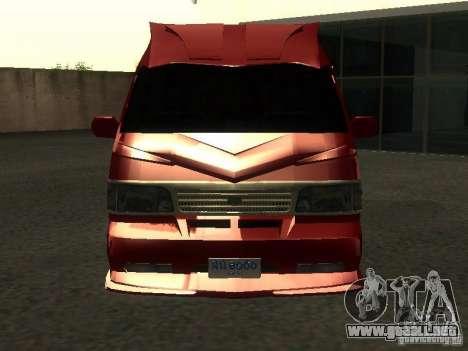 Toyota Hiace Vanning para visión interna GTA San Andreas