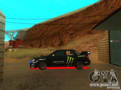 Subaru Impreza Gymkhana Practice para la visión correcta GTA San Andreas