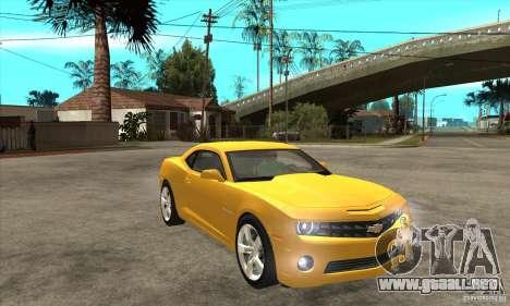 Chevrolet Camaro SS 2010 para GTA San Andreas vista hacia atrás