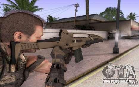 HK XM8 eotech para GTA San Andreas segunda pantalla