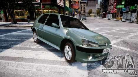Peugeot 106 Quicksilver para GTA 4 Vista posterior izquierda