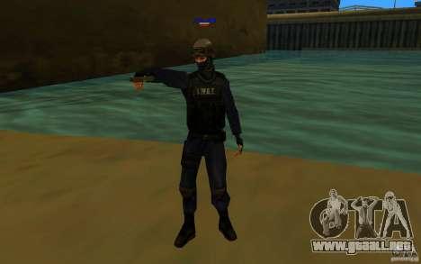 HQ skin S.W.A.T para GTA San Andreas segunda pantalla