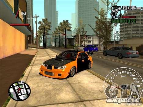 Subaru Impreza WRX Sti 2006 Elemental Attack para GTA San Andreas