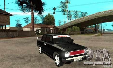 Coupe de 2 puertas VAZ 2101 para GTA San Andreas vista hacia atrás