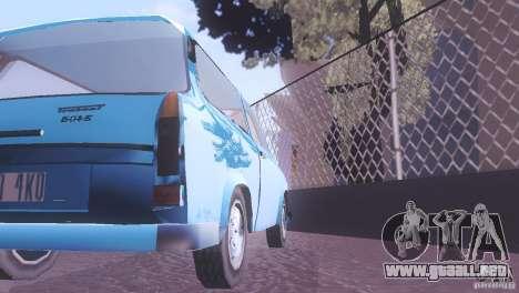 Trabant 601S para visión interna GTA San Andreas
