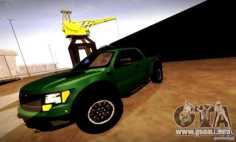 Ford F-150 SVT Raptor V1.0 para la vista superior GTA San Andreas