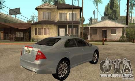 Ford Fusion V6 DUB 2011 para la visión correcta GTA San Andreas