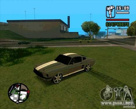 Ford Mustang 67 HotRot para la visión correcta GTA San Andreas