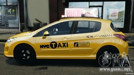 Peugeot 308 GTi 2011 Taxi v1.1 para GTA 4 left